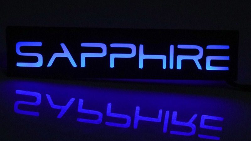 FREEZEMOD special graphics card LED lighting with blue color. XYD-SAPPHIRE