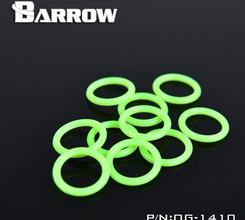 "Barrow silicone O ring G1/4"" UV green. OB-141O"
