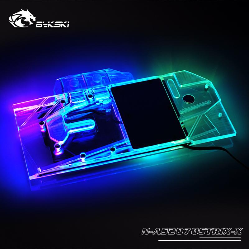 Bykski N-AS2070STRIX-X ASUS ROG STRIX-RTX2070-O8G full cover Graphics card  water cooling block