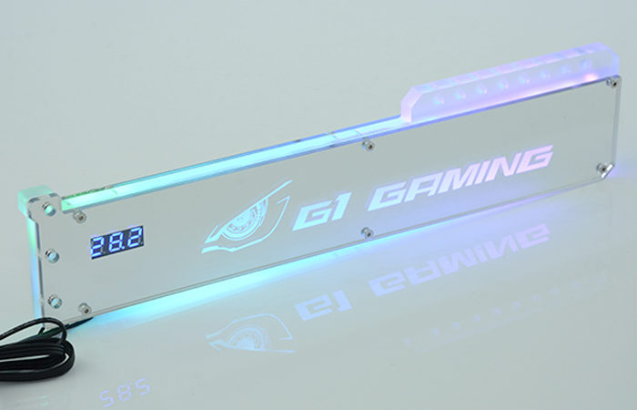 FREEZEMOD graphics card bracket jack with temperature display double mirror effect slidable module.XKZJ-WD