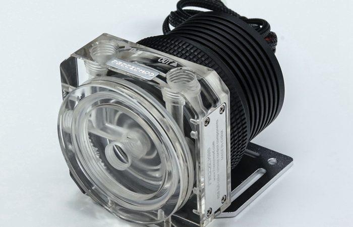 FREEZEMOD domestic D5 water pump metal armor set magnetic suspension transparent PWM RGB AURA. PU-GTD5