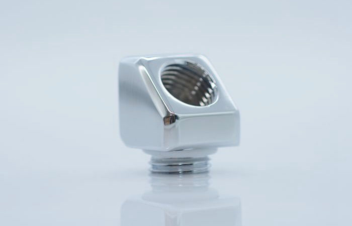 FREEZEMOD computer water cooling adapter elbow 45 degree bevel inside and outside teeth. BNYWT-D45